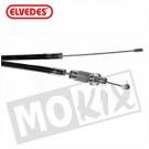 Gaskabel Zundapp +15cm zwart Elvedes