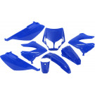 Kappenset - Plaatset Edge Derbi Senda DRD - Xtreme (tot 2010)  8 delig blauw