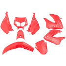 Kappenset - Plaatset  Derbi Senda DRD - Xtreme tot 2010 rood Edge