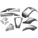 Kappenset - Plaatset Edge Sym Mio zilvergrijs metallic 10 delig.