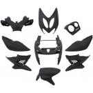Kappenset - Plaatset  Edge Yamaha Aerox - MBK Nitro (tot 2014) 9 delig Mat zwartmat zwart