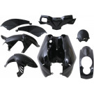 Kappenset - Plaatset TMT Peugeot Ludix zwart metallic 8 delig