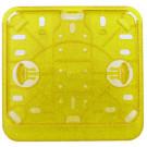 Kentekenplaathouder PVC liggend geel / goud