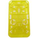 Kentekenplaathouder PVC staand geel / goud
