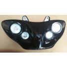 Aanbieding: Koplamp Gilera runne zwart met 4 lampen OP=OP nog een op voorraad