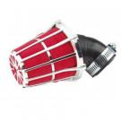 Luchtfilter TunR 28-35mm zwart, chroom / rood