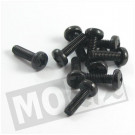 Metaalschroef M6x20 kruiskop zwart 10 stuks