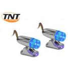 Mini-spot LED  TNT chroom/blauw  (SET)
