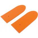 Oranje plaat scooter universeel PVC