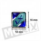 Aanbieding: Embleem - sticker Vespa LX voorspatbord origineel