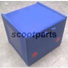 Pizza box - koffer blauw 56X52X44 cm