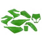 Kappenset - Plaatset Derbi Senda-DRD/Xtreme 8 delig Kawasaki-groen