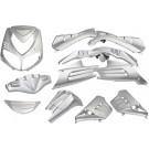 Kappenset - Plaatset Peugeot Speedfight  13 delig  zilvergrijs