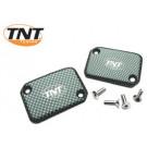 Remreservoir dekselset TNT Yamaha Aerox, Slider carbon 2 stuks