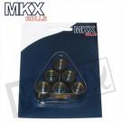 Variorollen  6 stuks 16x13  MKX   3.6gr