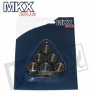 Variorollen  6 stuks 17x12  MKX   4.6gr