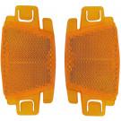 Spaakreflectorset oranje  2 stuks