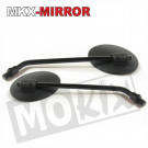 Spiegel set Honda MT, MB zwart links en rechts