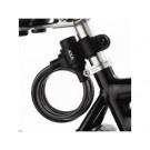 Spiraalslot AXA Rigid 180 cm x 8 mm met framehouder - zwart