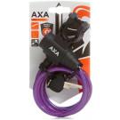 Spiraalkabelslot AXA Zipp 120/8 - paars (op kaart)