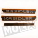 Sticker Kreidler zwart / oranje