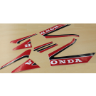 Sticker set Honda MB rood, wit