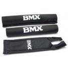 Stuur + frame pad set BMX zwart Pad-set