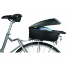 Topkoffer - bagagebox Polisport fiets -  zwart  vaste montage op drager