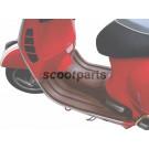 Treeplank rubber Vespa GTS bruin