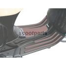Treeplank rubber Vespa LX zwart, bruin