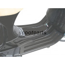 Treeplank rubber Vespa LX zwart, zwart