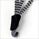Veiligheidsbinder Bibia met RVS haak - zwart/wit/grijs