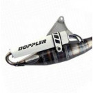 Uitlaat Doppler S3R Minarelli Horizontaal wit
