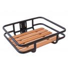 Transport voordrager vierkant met houten plank