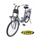 """Transport voordrager Steco Comfort, eenvoudige montage draagvlak 20 x 20 cm - voor 20"""" en 24"""" fietse"""