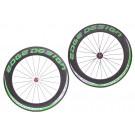 "Wielset 28"" carbon Clincher Sidewinder 8.5 groen"