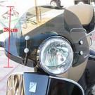 Windscherm met bevestiging set Vespa GTS alle modellen 28cm hoog Smoke