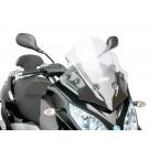 Windscherm met montageset Puig V-Tech Sport transparent / helder geschikt voor Piaggio MP3 300ie LT
