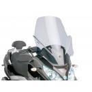 Windscherm met montageset Puig V-Tech Touring smoke geschikt voor Piaggio MP3 Touring 400ie 2012